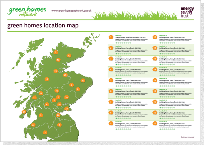 Energy Savigs Trust - Location Map