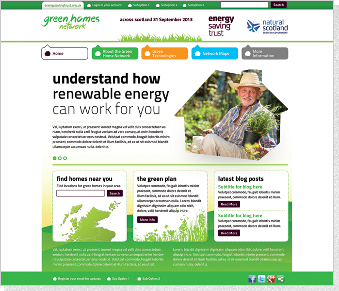 Energy Savigs Trust - Web Screenshot