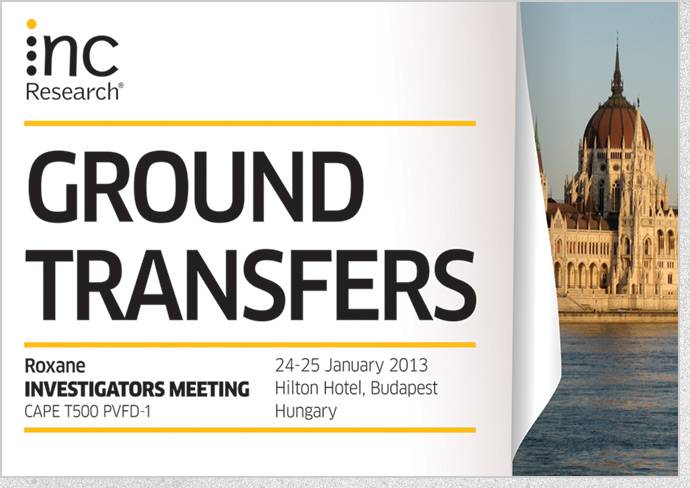 INC Research - Roxane Ground Transfers Sign