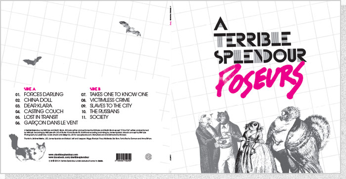 "A Terrible Splendour ""Poseurs"" LP Cover Spread"