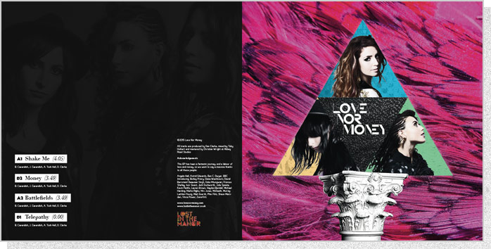 "Love Nor Money | 10"" EP Back and Front Cover Spread"