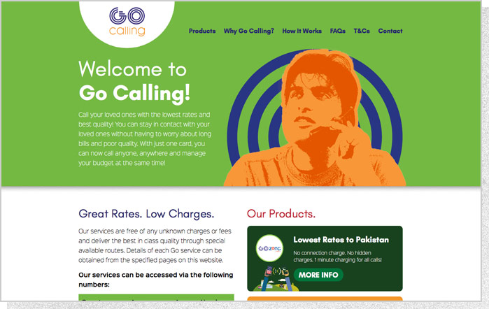 Go Calling | Main Home Page