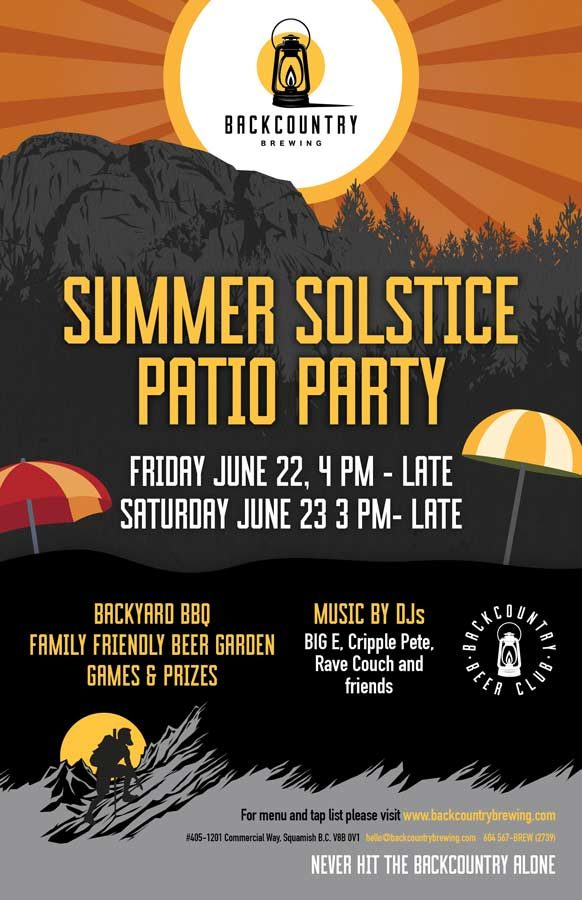 Backcountry Brewing Print | Summer Solstice Party 2018 - Poster