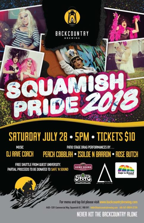 Backcountry Brewing | Squamish Pride 2018 - Poster