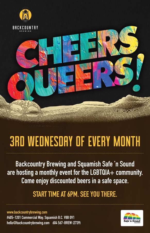Backcountry Brewing | Cheers Queers! - Poster