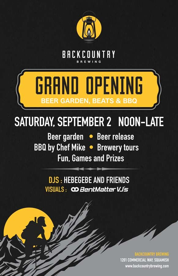 Backcountry Brewing | Grand Opening Poster - Poster