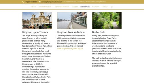 Hampton Suites | www.hampton-suites.london - Experiences