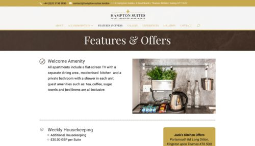 Hampton Suites | www.hampton-suites.london - Features & Offers