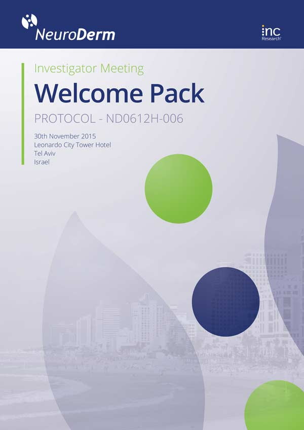 Inc Research | Neuroderm Clearcut Welcome Pack, November 30, 2015