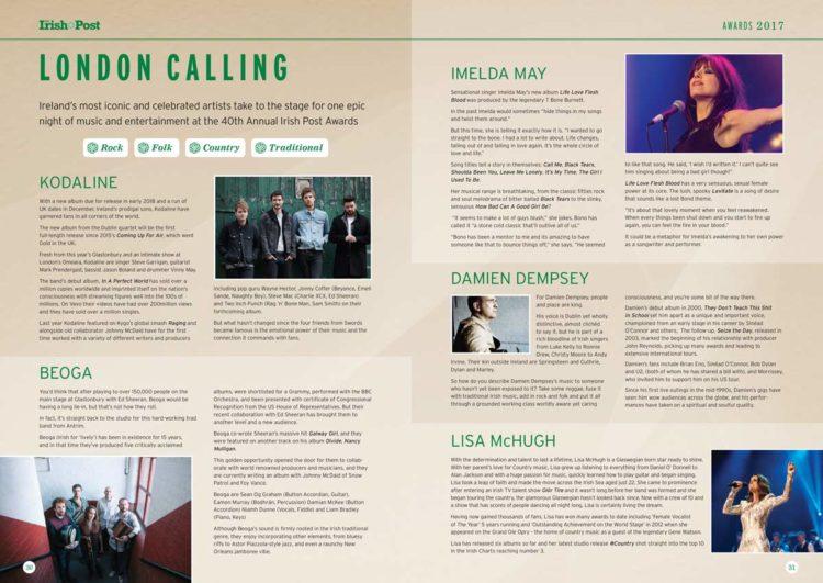 The Irish Post | 2017 Gala Programme - Inner Spread
