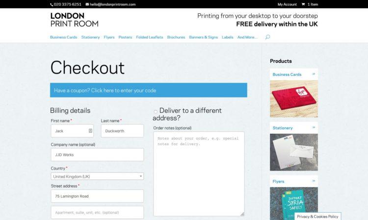 londonprintroom.com | Checkout