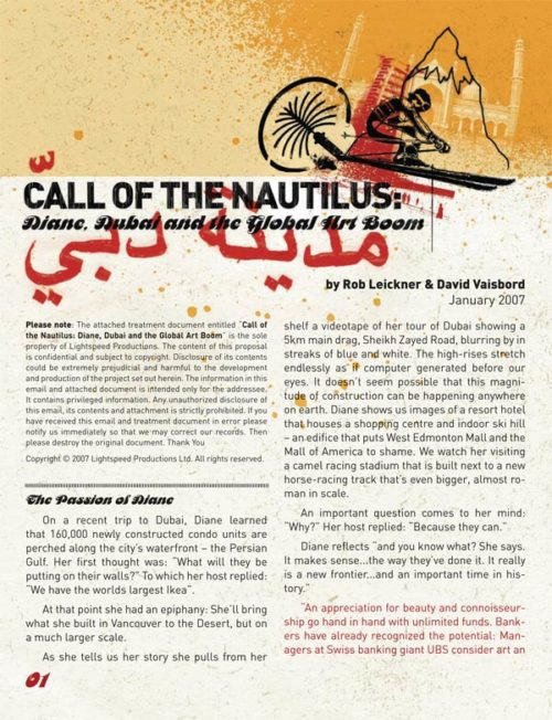 "Lightspeed Productions | ""Call of the Nautilus"" One-sheet (Side 1)"