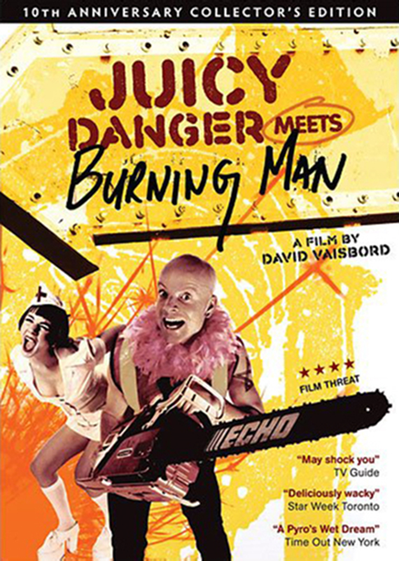 "Lightspeed Productions | ""Juicy Danger meets Burning Man"" DVD Sleeve"