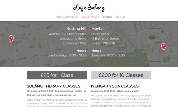 Łucja Soläng | Website - Classes