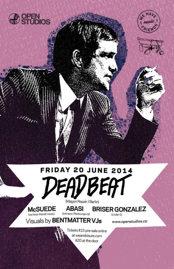 Open Studios | Poster - Deadbeat - June 20, 2014