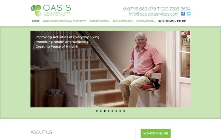 Oasis Occupational Therapy | Website - Home
