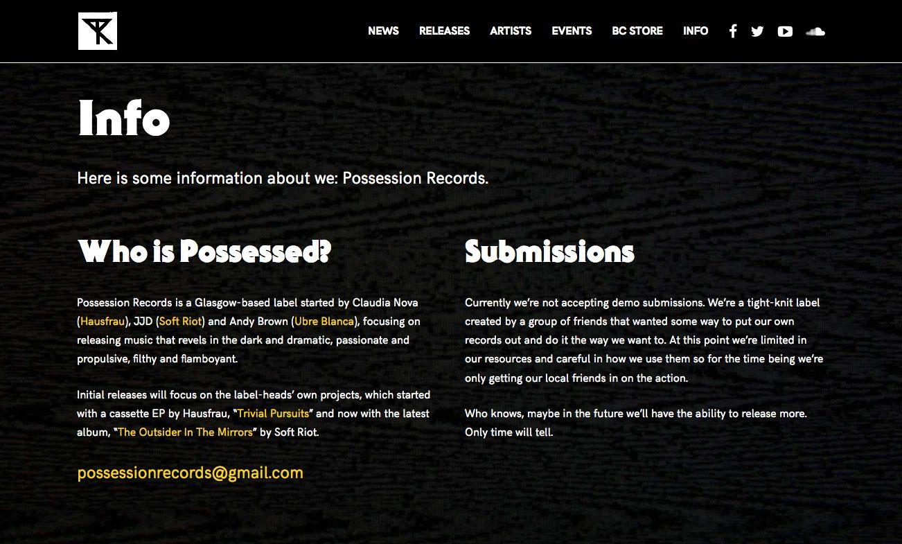 Possession Records Website   JJD WORKS