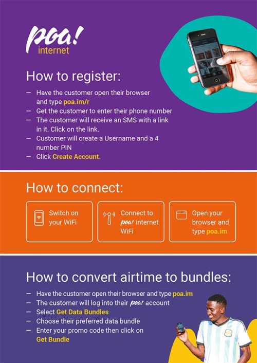 Poa! Internet | How To - A5 Flyer
