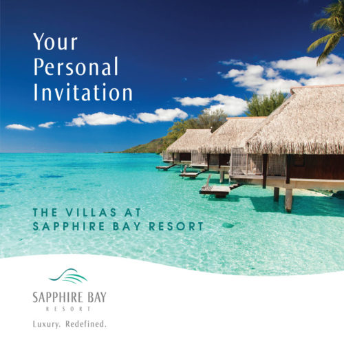 Sapphire Bay | Brochure, Cover