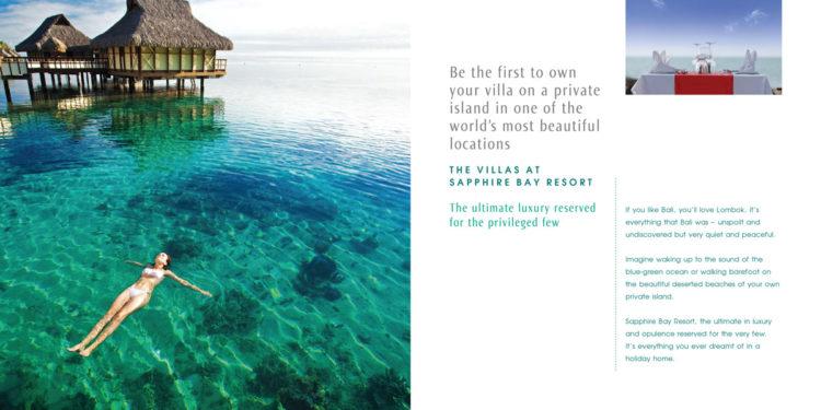Sapphire Bay | Brochure, Spread 1