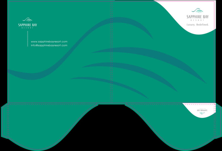 Sapphire Bay | Die-Cut Folder