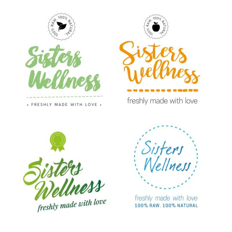 Sisters Wellness | Logo Design Drafts 1