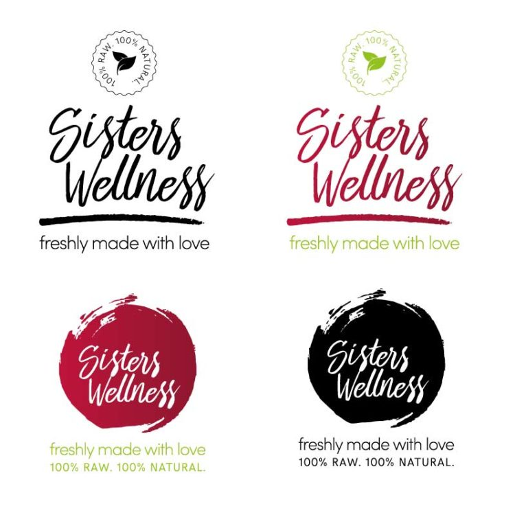 Sisters Wellness | Logo Design Drafts 2