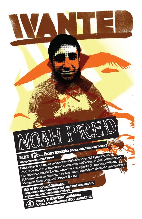 Wanted! | 2007-05-17 Noah Pred Poster