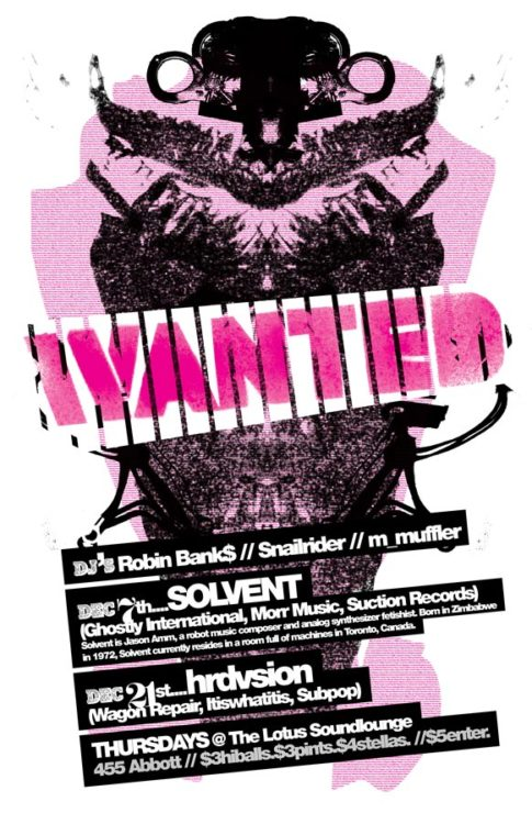 Wanted! | Dec 2006 Line-up Poster