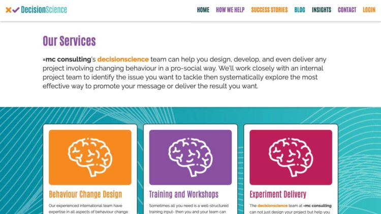 Decision Science | www.decisionscience.org.uk - How We Help