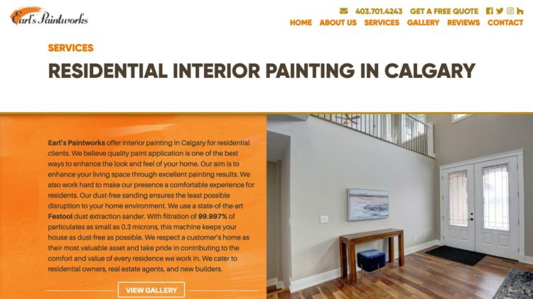 Earl's Paintworks | www.earlspaintworks.ca - Painting Services