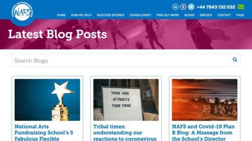 National Arts Fundraising School (NAFS) | www.nationalartsfundraisingschool.com - Blog