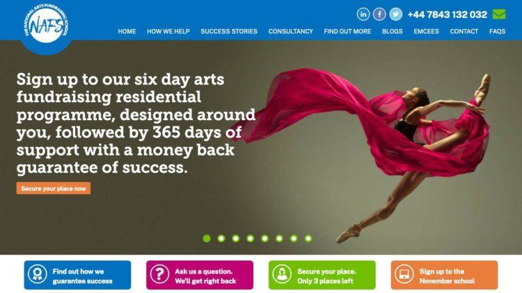 National Arts Fundraising School (NAFS) | www.nationalartsfundraisingschool.com - Home Slider