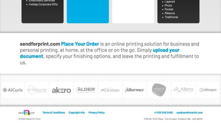 Send For Print | www.sendforprint.com - Footer Area