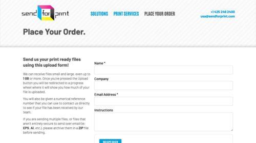 Send For Print | www.sendforprint.com - Place Order Form