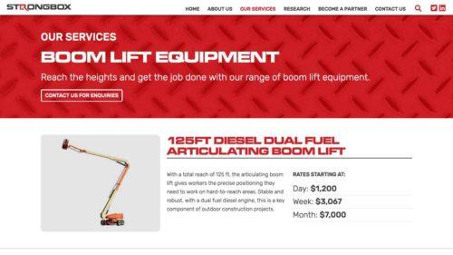 Strongbox Company | www.strongboxcompany.com - Equipment Listing