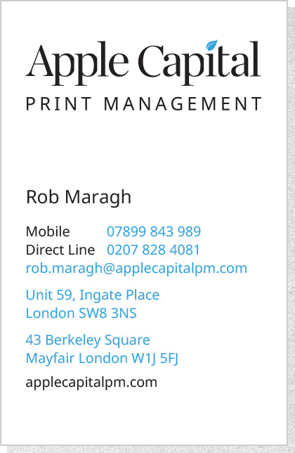 Apple Capital PM - Business Card Front 2