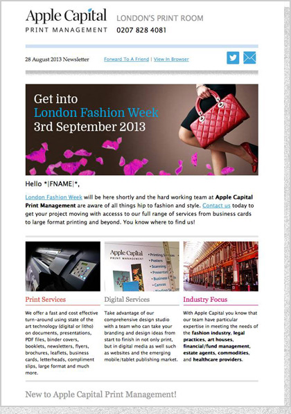 Apple Capital PM - HTML Email Design 1