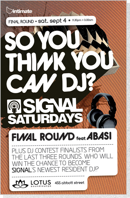 Intimate Poster - So You Think You Can DJ?