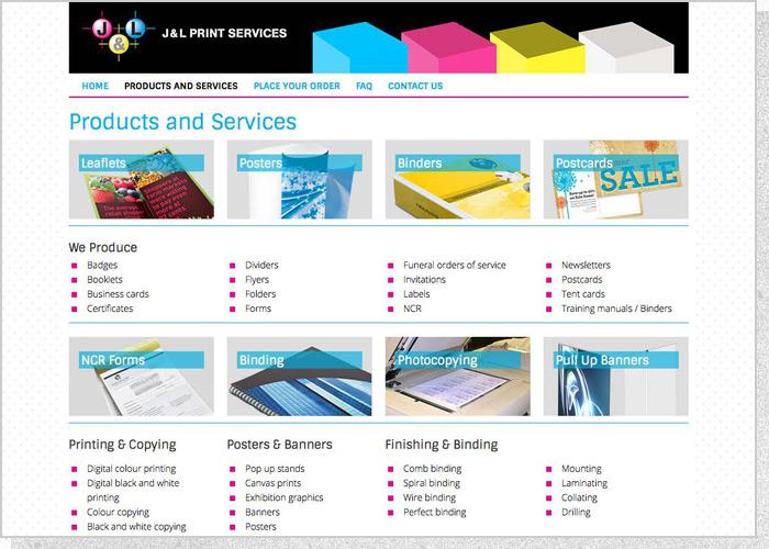 J&L Print Services - Screen 2