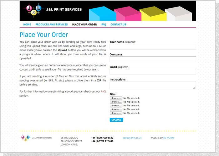 J&L Print Services - Screen 3