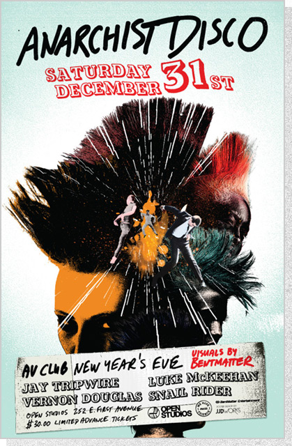Open Studios - Anarchist Disco Poster