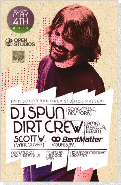 Open Studios - DJ Spun Poster