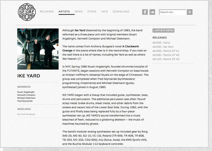 Desire Records - Artist Page