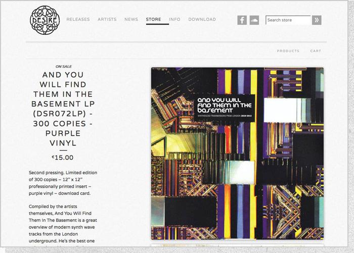 Desire Records - Store Page