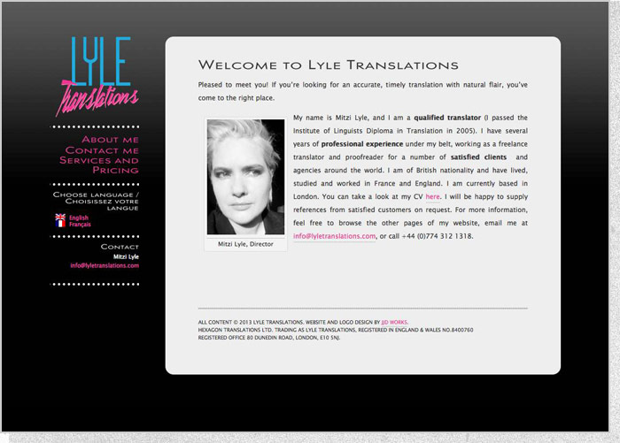Lyle Translations - Home Screen