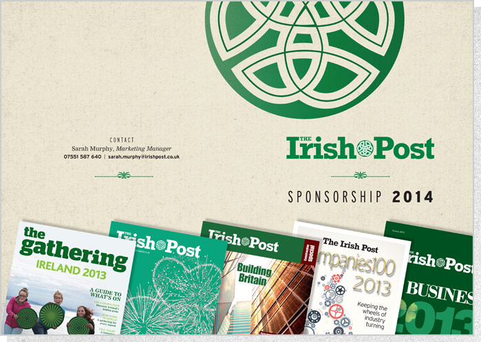 The Irish Post | Folder Design