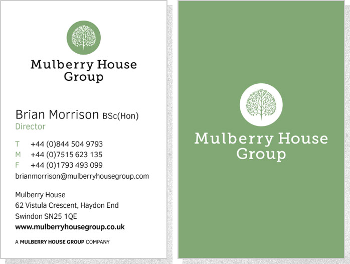 Mulberry House Group   Business Cards