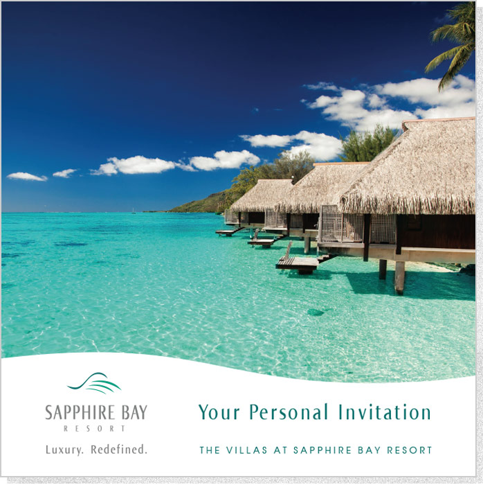 Sapphire Bay | Brochure Cover