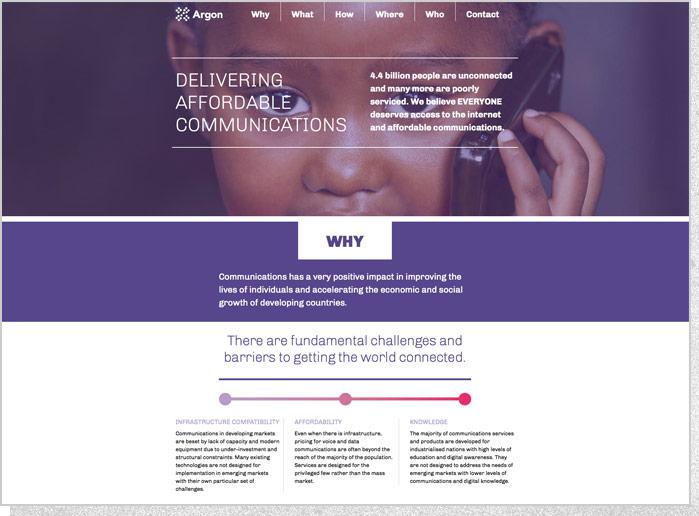 Argon Telecom | Website Top